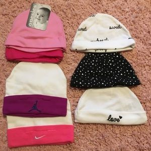 Lot of 7 baby hats